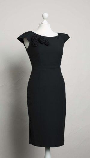 Elegantes schwarzes Abendkleid mit Blumen NEU