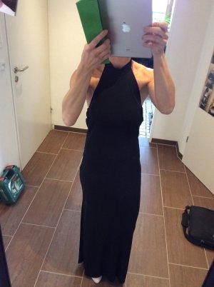 Elegantes schwarzes Kleid, rückenfrei