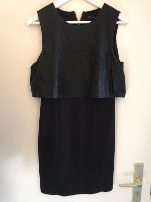 elegantes schwarzes Kleid Zara