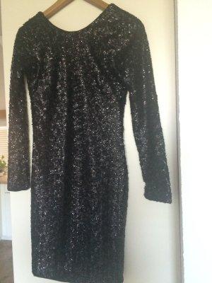 Elegantes schwarzes Paillettenkleid