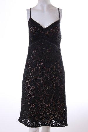 Elegantes schwarzes Spitzenkleid - Gr. 38