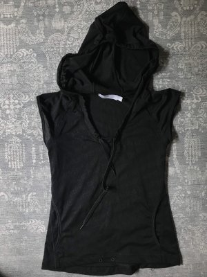 Adidas by Stella McCartney Hooded Shirt black polyester