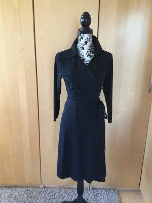Elegantes, schwarzes Wickelkleid , Made in Italy