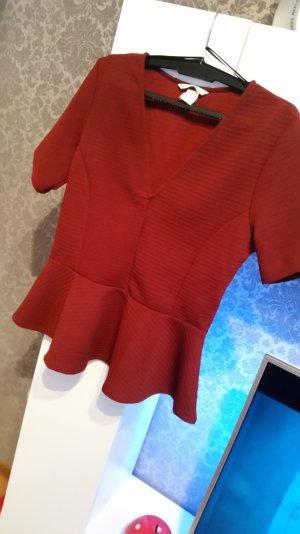 Elegantes Shirt H&M in weinrot