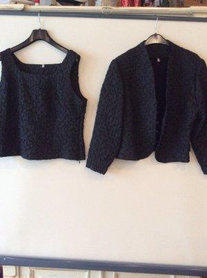 Elegantes Shirt / Jacken TwinSet Gr 42 edle Optik schwarz