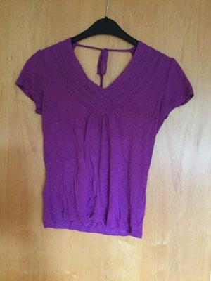 Elegantes Shirt mit Rückenausschnitt S lila Esprit Collection