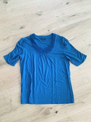 Bianca Carmen shirt korenblauw Viscose