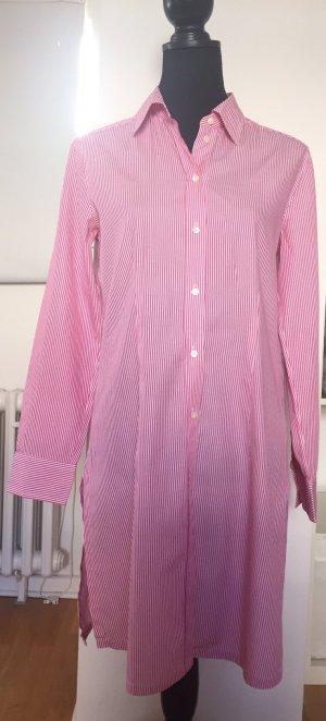 Elegantes SOR Blusenkleid, Bluse weiß pink gestreift