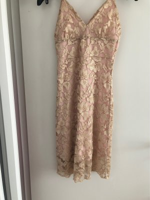 Lace Dress pink-gold-colored