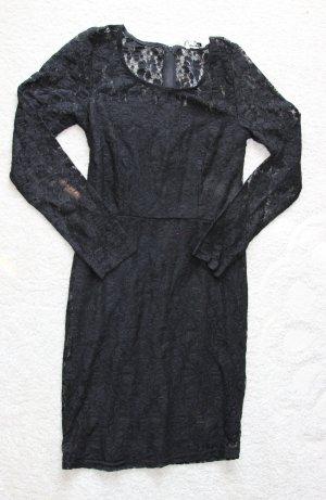 Elegantes Spitzenkleid in schwarz