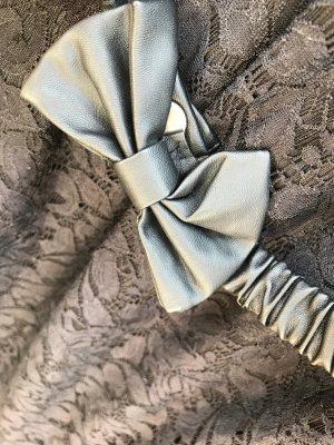 elegantes Spitzenkleid mit süßem Ledergürtel mit Schleife (NEU) ideal für Silvester