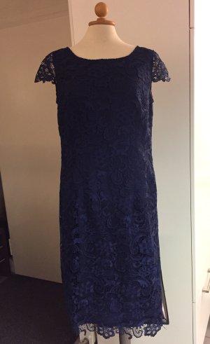 Vera Mont Robe de cocktail bleu foncé