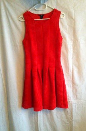 Elegantes Stretch Etuikleid mit dickem Jersey Stoff in rot von H&M Gr. S wie Neu