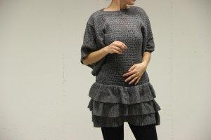 elegantes Strickkleid mit Fledermaus Armen und Swing Rock :)