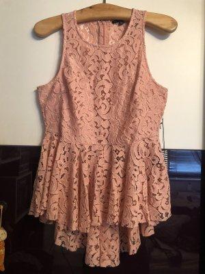 Top di merletto rosa antico