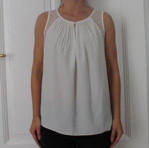 Elegantes Top Bluse von Sandro Gr. 2 aus Seide in weiß *Sommer*