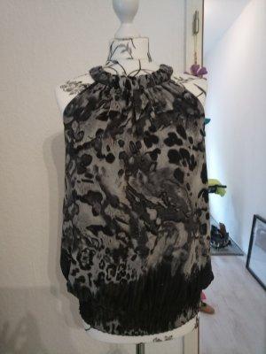 Elegantes Top, schwarz/grau Gr. 36 / 38