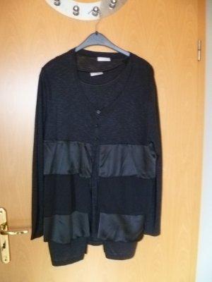 Elegantes Twin-Set Top und Cardigan von She Gr.46 schwarz