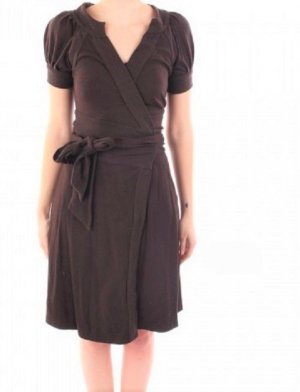 Diane von Furstenberg Vestido cruzado marrón oscuro-marrón Lana