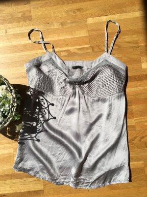 Elegantes und sehr schönes Seiden-Top, Silbergrau, LAURA CLEMENT (38)