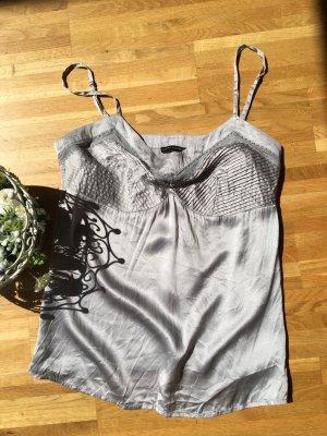 Laura Clement Blusa in seta argento-grigio chiaro Seta