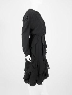 Robe chiffon noir viscose