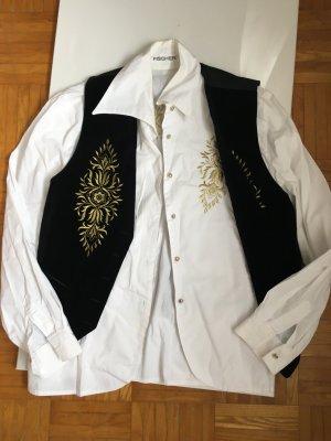 Eleganz pur Designer Bluse und Weste von Fischer Samt Gr 38/40