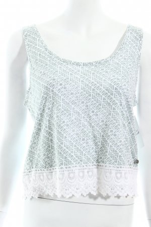 Element Crop-top blanc-gris vert style mode des rues