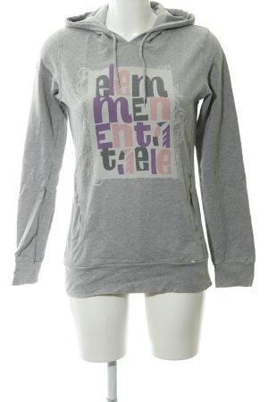 Element Kapuzensweatshirt Schriftzug gedruckt Casual-Look