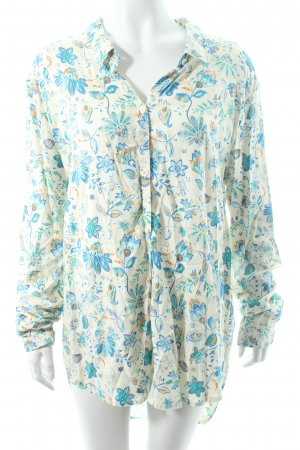 Element Langarm-Bluse Blumenmuster College-Look