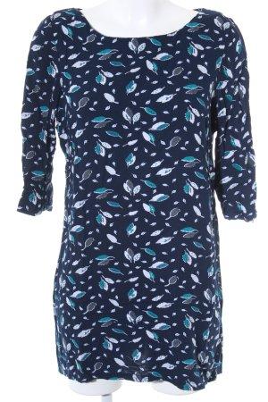 Element Langarmkleid dunkelblau florales Muster Casual-Look
