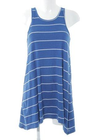 Element Minikleid blau-weiß Streifenmuster Casual-Look