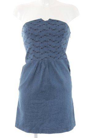 Element schulterfreies Kleid stahlblau Casual-Look