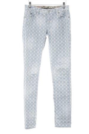 Element Slim Jeans himmelblau-weiß abstraktes Muster Casual-Look