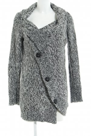 Element Strickjacke schwarz-weiß meliert Casual-Look