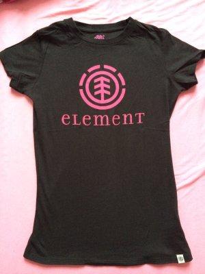 Element t-shirt oberteil größe s 36 wie neu schwarz pink