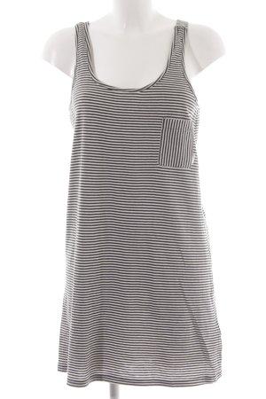 Element Trägerkleid schwarz-weiß Streifenmuster Beach-Look