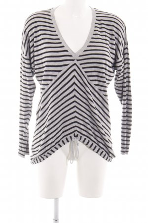 Element V-Neck Shirt light grey-black striped pattern casual look
