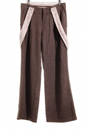 Element Woolen Trousers brown pinstripe vintage style
