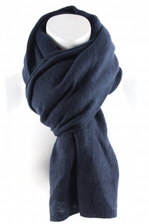 Elemente Clemente Knitted Scarf dark blue simple style
