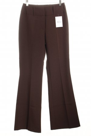 Elements Bundfaltenhose dunkelbraun Business-Look