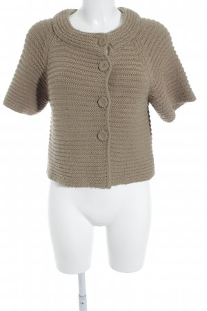 elements by TAIFUN Collection Kurzarmstrickjacke camel Lochstrickmuster