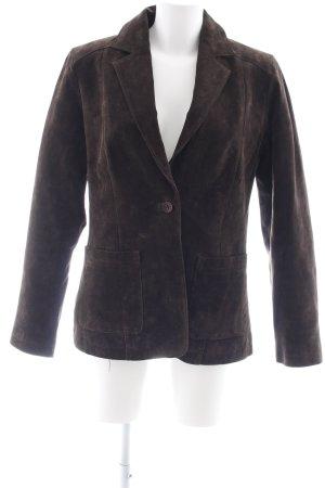 Elements Lederjacke schwarzbraun schlichter Stil