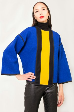 Oversized Sweater multicolored new wool