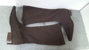 Botas estilo militar marrón-negro-coñac