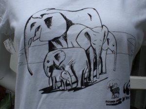 Hema Print Shirt white-black cotton