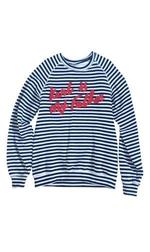 Eleven Paris Kraagloze sweater veelkleurig