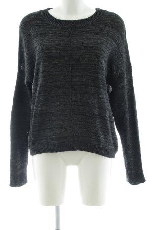 Eleven Paris Gebreide trui zwart-lichtgrijs gestippeld simpele stijl