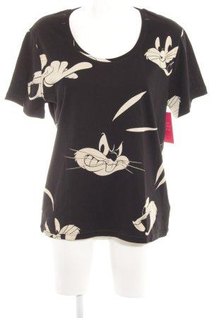 Eleven Paris T-shirt zwart-room abstract patroon simpele stijl