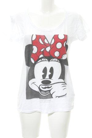Eleven Paris T-shirt wit-rood prints met een thema casual uitstraling